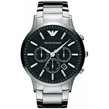 100% Authentic Emporio Armani Chronograph Stainless Steel Dress Watch AR2460