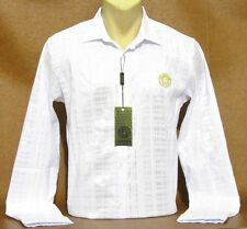 Brand NEW Men's VERSACE Long Sleeve Slim Fit White SHIRT Size M