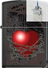 Zippo CM8194 Barbed Wire Heart Lighter & Z-PLUS INSERT BUNDLE