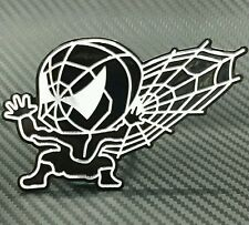 Spiderman Marvel Dc Comic Symbol hard plastic metallic car sticker Black