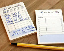 Mini Home Office Check List Journal Schedule Planner Memo Note Paper Student #UK