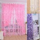 Print Floral Voile Door Curtain Window Room Curtain Divider Scarf Lucky