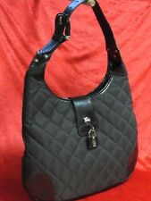 Original BURBERRY Damen Tasche Quilted Brook Hobo Bag dunkelbraun wie neu !