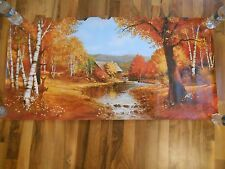Old Vintage Picture Print Art 1974 Scafa-Tornabene West Deer Fall Birch Cabin