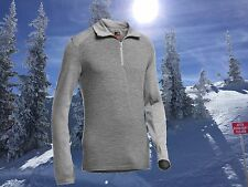 Icebreaker Mens XL Long Sleeve 260g Merino Wool Gray Tech Top Nwt