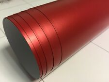 1520mm x 300mm bulle d'air libre matt matte chrome satiné rouge vinyle film voiture wrap