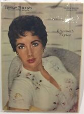 Elizabeth Taylor Insert Cover from New York's Picture Newspaper -Oct. 24, 1954