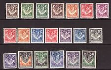 RHODESIA George VI set to 10/-,multiple,multi-colour lightly hinged, cat. £180.