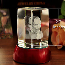 Laser 3D gravée steve jobs figurine crystal paperweight home & office decor crafts