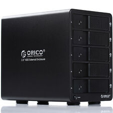 "ORICO 9558U3 Aluminium 5 Bay 3.5"" Hard Drive Enclosure USB 3.0 HDD 8TB Disk Dock"