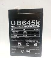 UB645  6volt 4.5ah UPG  SEALED LEAD- ACID BATTERY