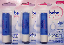 BEBE YOUNG CLASSIC CARE - LIP BALM STICK NEW BEAUTY COSMETIC  3 pcs