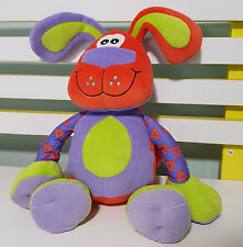 PLAYGRO PLUSH TOY RATTLE BABY TOY SQUEEK THE DOG  25CM!