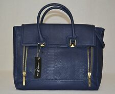 Olivia and Joy Stephanie Convertible Satchel Navy