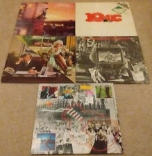 5 X 10cc Vinyl LPs, Self Titled, How Dare You, Soundtrack, Ten Out of Ten, Hits