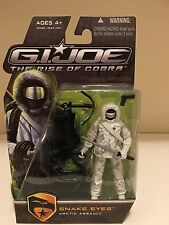 GI Joe Rise of Cobra Snake Eyes Arctic Assault Action Figure Brand New