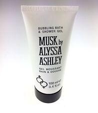 MUSK BY ALYSSA ASHLEY Gel Bath Foam Bubbling Bath & Shower 100 ml NEW