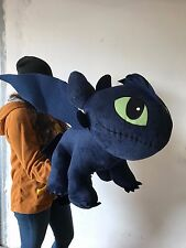 PELUCHE HOW TO TRAIN YOUR DRAGON 2 PLUSH 100 CM SDENTATO TOOTHLESS GIANT SIZE #2