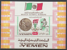 Yemen Kgr 1968 ** Bl.141 Olympische Spiele Olympic Games Mexiko Mexico