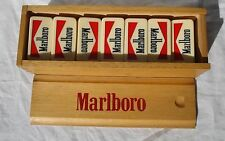 Antique Marlboro Advertising Dominoes Game Galalite, Celluloid?