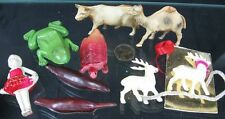 Lot of 9 Vintage 1930's Small Celluloid Frog Turtle Seal Doll Cow CV & Japan