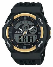 Lorus by Seiko R2390JX9 Mens Dual Analog Digital Black Sports Watch 100m