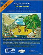 Retro 1980 Dungeon Mdoule X1 Isle of Dread TSR D&D