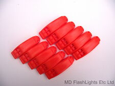 10 X ORANGE SAFETY SURVIVAL DISTRESS WHISTLES IDEAL FOR BUSHCRAFT SAILING