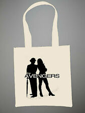 The Avengers Eco Shopper Tote Bag Diana Rigg John Steed