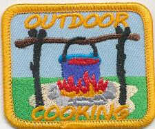 Girl Boy Cub OUTDOOR COOKING Cook Fire Fun Patches Crest Badge SCOUT GUIDE camp