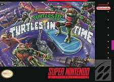 Super Nintendo Snes TMNT Turtles In Time IV  Box  Cover Fridge Magnet