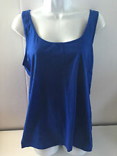 Old Navy womens fitted cami tank top Xlarge royal blue NEW