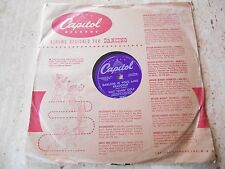 "78 RPM ""DARLING JE VOUS AIME BEAUCOUP/SAND & THE SEA"" NAT ""KING"" COLE 1954"