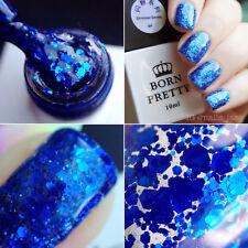 10ml Born Pretty Soak Off UV Gel Polish Blue Glitters LED Manicure Varnish