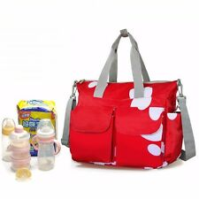 HOT Nappy Diaper Bags Waterproof Changing Bag For Baby Women Handbag Large Red