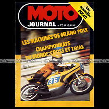 MOTO JOURNAL N°215 GUZZI 850 T3 & 750 S3, DUCATI 350 & 500 GTL, TCHERNINE 1975