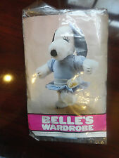 1958 VINTAGE RETIRED Belle's SNOOPY sister blue dress + bow collectors peanuts