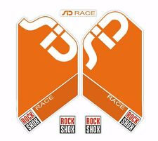 Rock Shox SID Race Mountain Bike Cycling Factory Style Decal Kit Sticker Orange