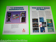 XYBOTS PACMANIA By ATARI VIDEO ARCADE GAME MAGAZINE ADVERTISING NOT A SALE FLYER