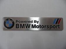 BMW Motorsport M Power Performance Schriftzug Alu 3D Aufkleber Sticker Emblem