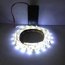 Costume Light White Led Light, 9V Battery Operated 500mm Waterproof Strip