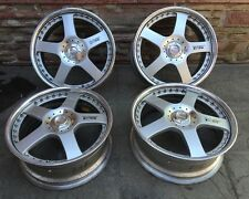 "18"" Racing Hart Rims Type C5 Set Of (4) Genuine Japan 18"" X 7 1/2 + 44 Offset"