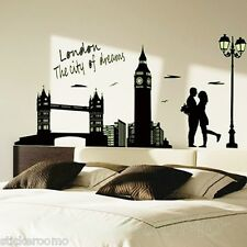 LONDON CITY POSTER GLOW IN THE DARK NEW STICKER WALL ART LIVING ROOM DIY DECOR