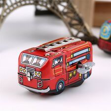 Retro Classic Firefighter Fire Engine Truck Clockwork Wind Up Tin Toys DE