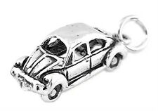 STERLING SILVER CLASSIC BEETLE STYLE CAR CHARM/PENDANT