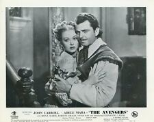 JOHN CARROLL ADELE MARA MONA MARIS THE AVENGERS 1950 8 VINTAGE LOBBY CARDS LOT