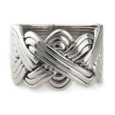 925k Sterling Silver 12 Band Turkish Men Puzzle Ring - Sizes from 8 to 14