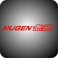 RED Vinyl sticker car MUGEN tuning logo 15x2 Honda Accord Civic CR-V Pilot decal