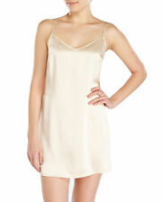 La Perla Dolce Collection M 100% Silk Chemise Blush Champagne Elegant New