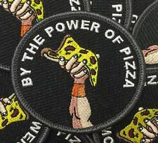 PIZZA POWER EMBROIDERED PATCH BY SPOOKING FUN
